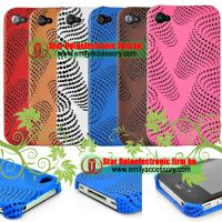 New Hard Dimple Fashionable  back cover for iPhone 4G 4th