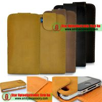 New Matte Flip Leather Case for iPhone 4G 4 4th Gen