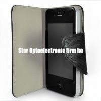 New Textured Slim Wallet Leather Case for iPhone 4G 4 4th Gen
