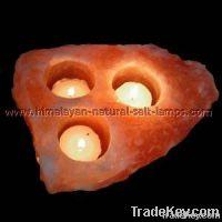 Natural Salt Candle Holder