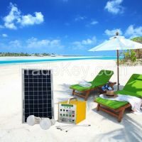 Portable Solar Home Lighting System for indoor and outdoor with 3W LED Light and Mobile Charger