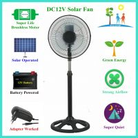 2 Years Warranty Cheap Price 12 Inch Solar DC Stand Fan with Brushless DC Motor