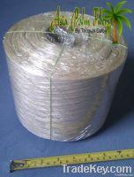 Abaca knottet fiber on spool