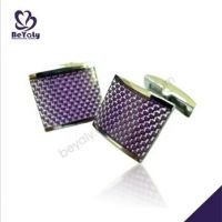 carbon fiber enamel clothing accessories jewelry 316L stainless steel cuff links for men