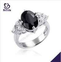 fashion jewelry gifts black AAA CZ 925 sterling silver rings