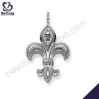 fashion jewelry women gifts flur de lis design AAA CZ 925 sterling silver pendant
