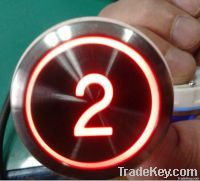 stainless steel elevator buttons