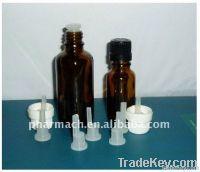 amber drop dispensing glass bottle