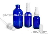 Blue cobalt essence oil dropper glass bottle