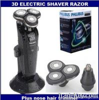 Electric shaver, 3D wet and dry electric razor, plus nose hair trimmer, r