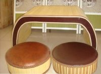 tea table and seating cushion