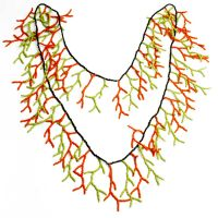 Fresco Glass Seed Bead Neon Strand Necklace