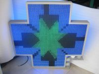 LED Pharmacy Cross Sign