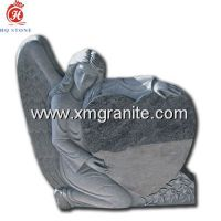 India Blue Angel Heart Headstone