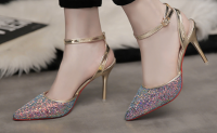 Ladies Fashion High heel shoes for Spring with high quality PU with good price