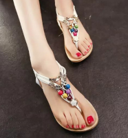 Ladies Fashion Flate Sandals shoes for summer with high quality PU with good price