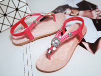 Ladies Fashion Flat Sandals shoes for summer with high quality PU with good price