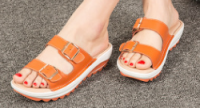 Ladies Fashion Sandal shoes for summer high quality cow leather with good price