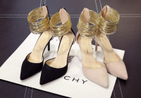 ladies fashion dress shoes with suede fabric for spring and good price