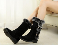 Ladies Fashion Boots for Spring / Winter with high quality Suede Fabric with good price