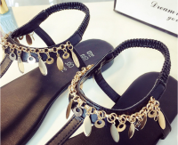 Ladies Fashion Sandals shoes for summer with high quality pu with good price