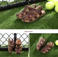 Kids Fashion Sandals shoes for summer with high quality cow leather with good price