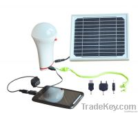 Removable Solar LED Bulb Light with mobile charger MRD401
