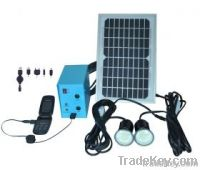 Solar LED bulbs Lighting System for house with mobile recharge