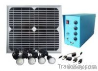 Portable Home Solar Lighting Power System for Remote Area Lighting