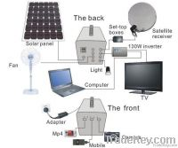 Solar LED bulb Lighting System for house with mobile recharge