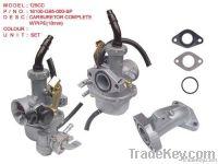 Carburetor Complete wpipe 16100-GB5-000-SP 125CC
