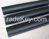 3K plain Twill high gloosy carbon fiber tube