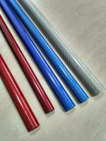 hot sell colorful fiberglass tube with factory price gold silver blue carbon fiber tube