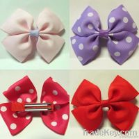 """3.5"""" Boutique Baby/Infant/Girl Accessories Kid Pinwheel Hair Bows Clip"""