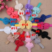 Baby Girls Newborn-Bowknot Headbands Hairband Hair Chiffon Bow Band