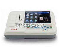 6 channel ecg machine touch & Color TFT screen EKG 6012