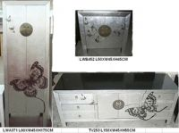Antique furniture wood wardrobe