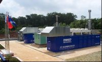 Biogas and natural gas power project