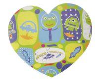 heart shape sticky note pad