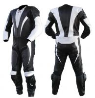 Man and Woman Leather Moterbike Suits