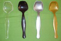 Plastic salad spoon