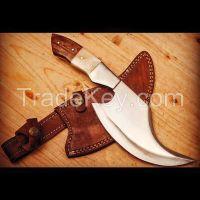 Knives  SS. Blade Brass Bolster  Frost Wooden Handle