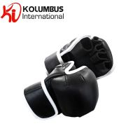 MMA black training gloves in leather, comes in all sizes, customization option available