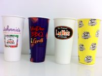 Custom Printed Paper Beverage Cold Cups