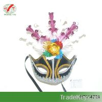 beautiful feather masks for party decoration