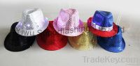 Light up Sequin Fedora hat