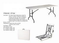 folding polyethylene table