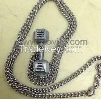 Fitness dumbbell necklace