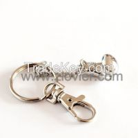 Fitness metal dumbbell keychain