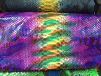 Customize Wholesale Genuine Python Snakeskin Hide Hand Painting Designs
